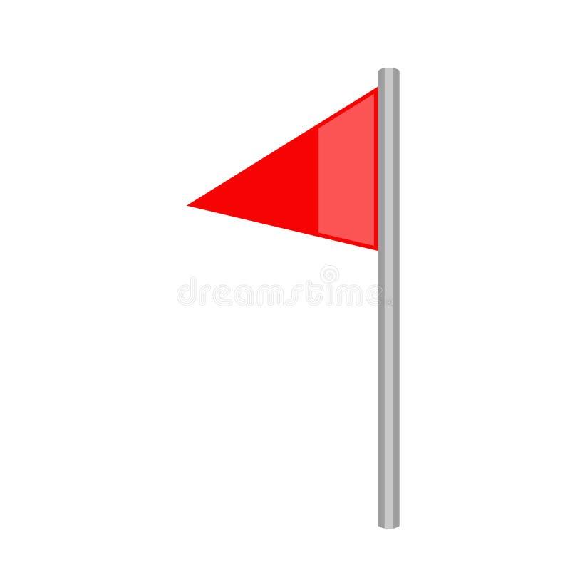 被隔绝的足球角落旗子象 库存例证