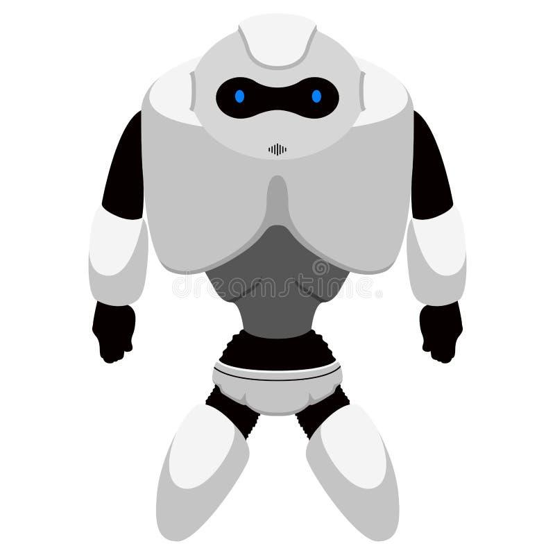 被隔绝的逗人喜爱的机器人象 向量例证