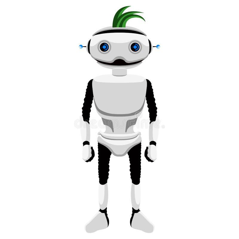 被隔绝的逗人喜爱的机器人象 皇族释放例证