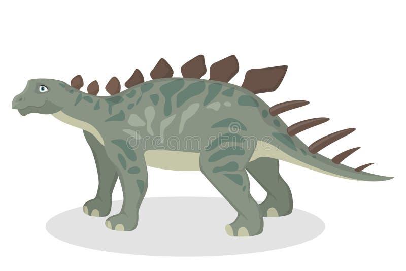 被隔绝的钉状龙恐龙 向量例证