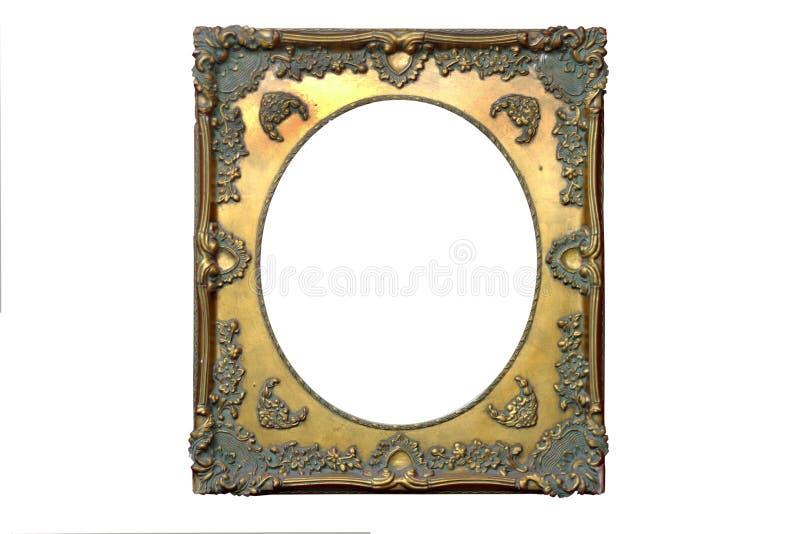 被隔绝的镜子框架,装饰,木材料 库存照片