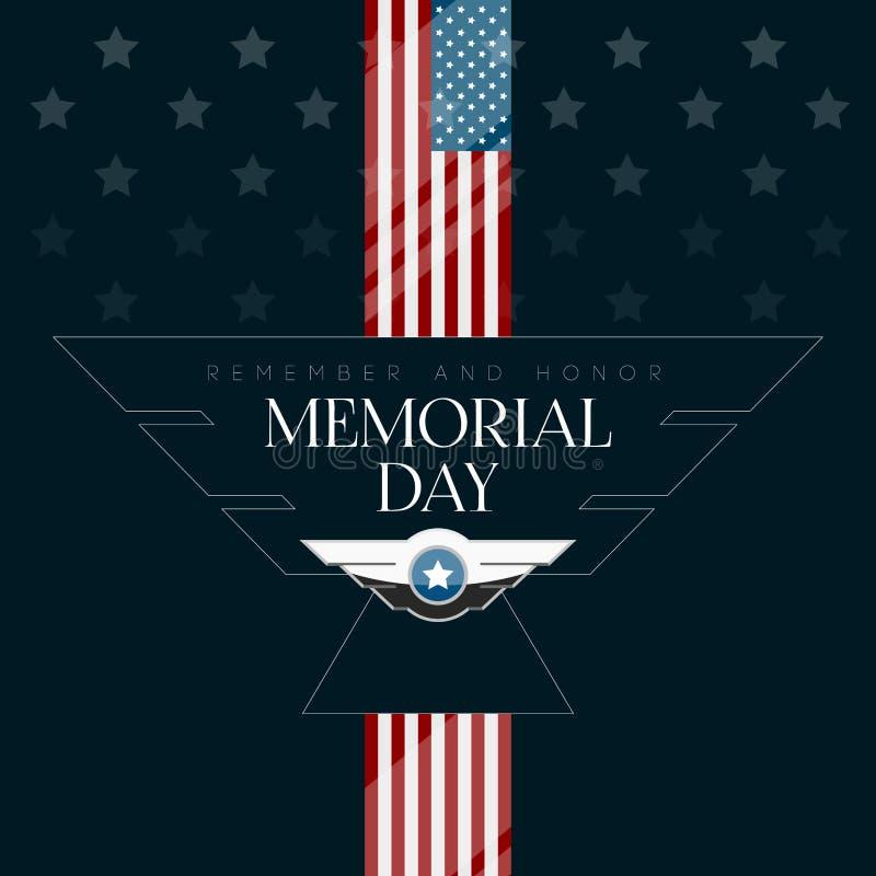 被隔绝的阵亡将士纪念日海报 库存例证