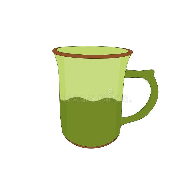 被隔绝的陶瓷咖啡杯 皇族释放例证