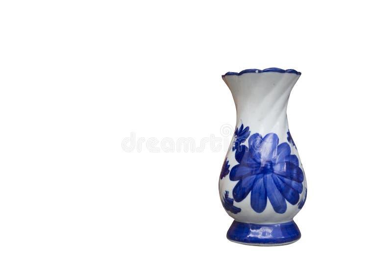 被隔绝的陶瓷花瓶油漆 免版税库存照片