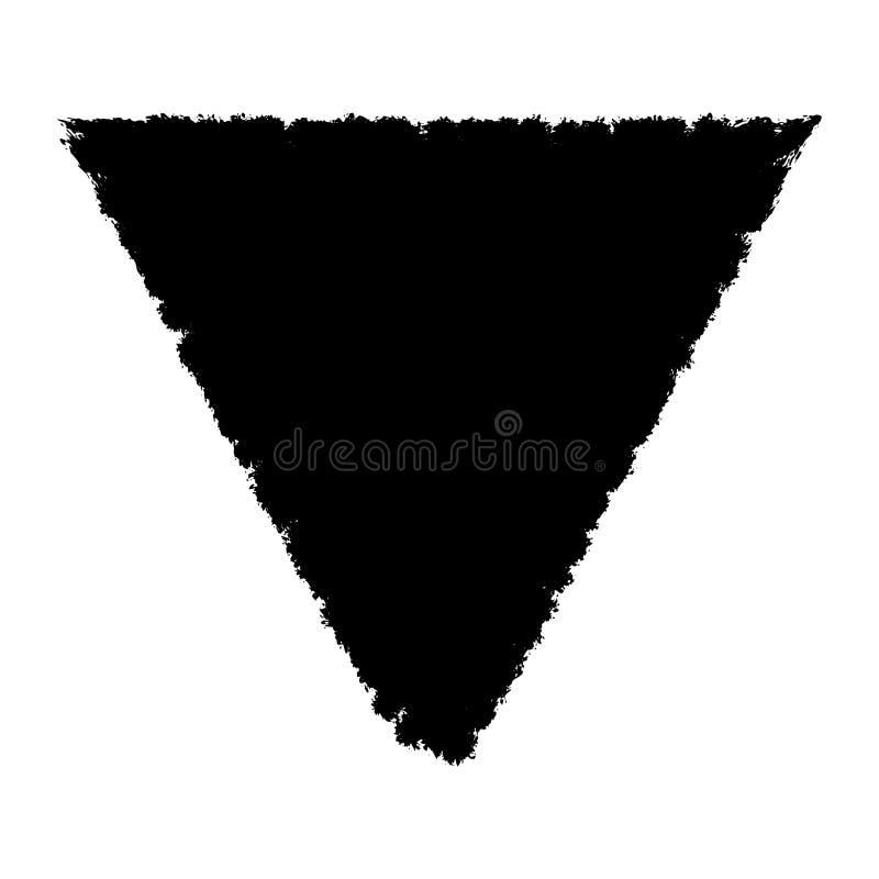 被隔绝的难看的东西三角 向量例证