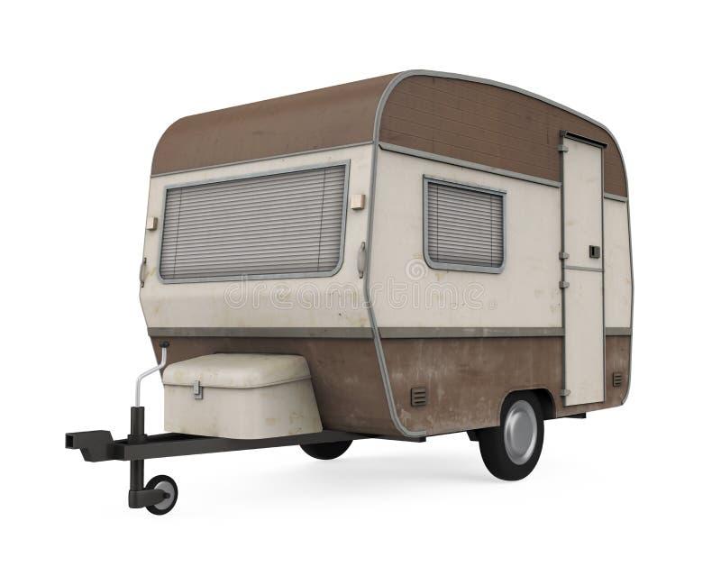 被隔绝的露营搬运车 向量例证