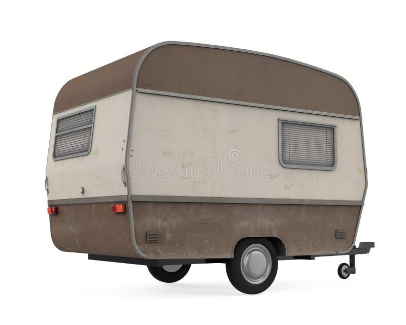 被隔绝的露营搬运车 皇族释放例证