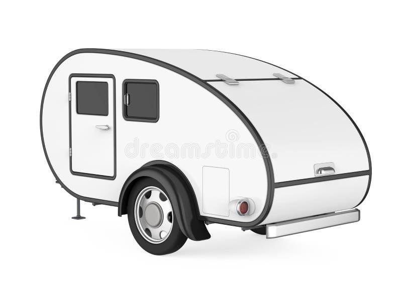 被隔绝的露营搬运车 库存例证