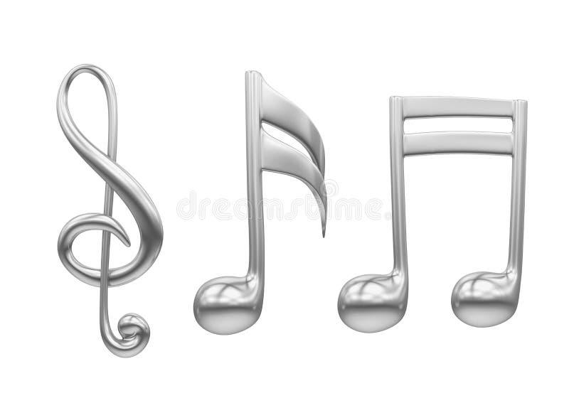 被隔绝的音乐笔记 向量例证