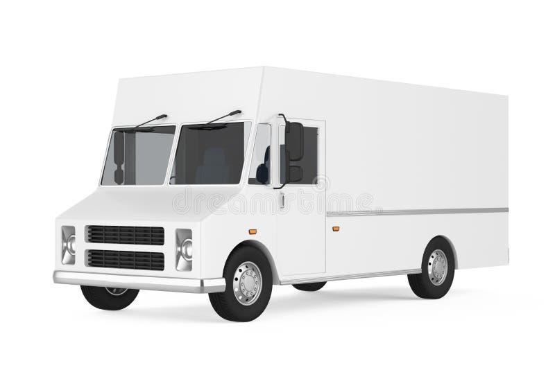 被隔绝的食物卡车 库存例证