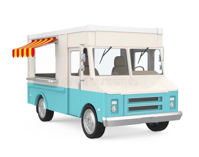 被隔绝的食物卡车 皇族释放例证