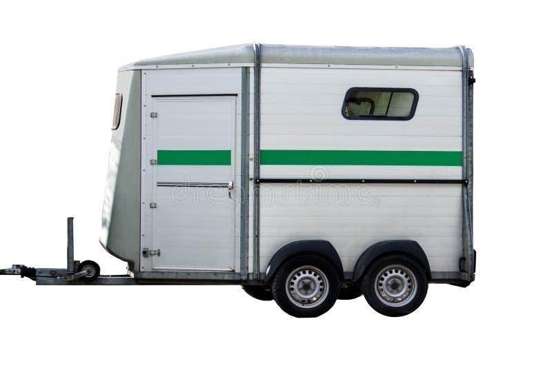 被隔绝的马运输搬运车 免版税库存图片
