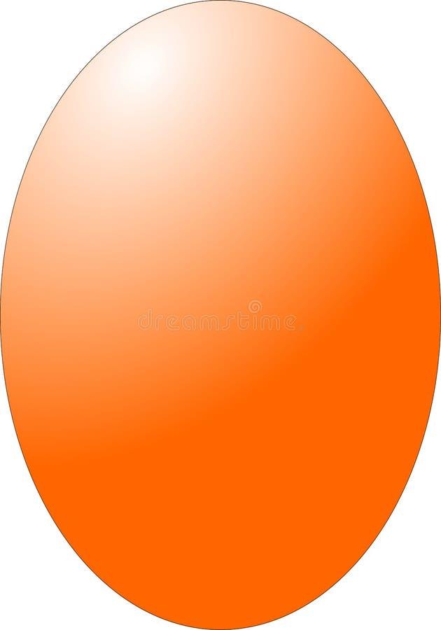 被隔绝的鸡橙色鸡蛋 向量例证