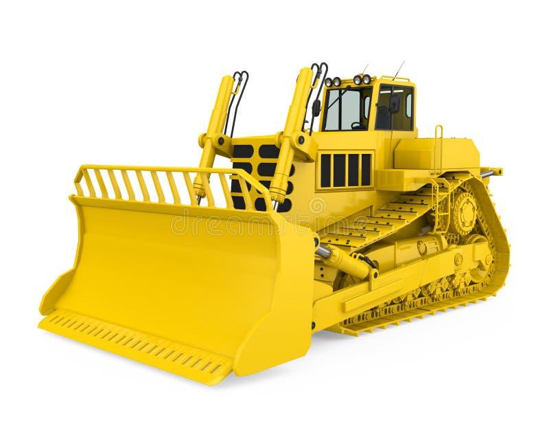 被隔绝的黄色推土机 库存例证