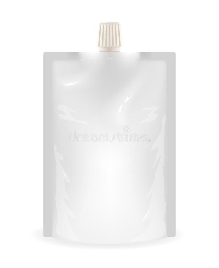 被隔绝的doypack液体密封了塑料香囊食物袋子立场挺直模板3d现实打印表面大模型 皇族释放例证