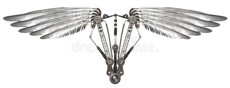 被隔绝的Steampunk翼 免版税库存图片
