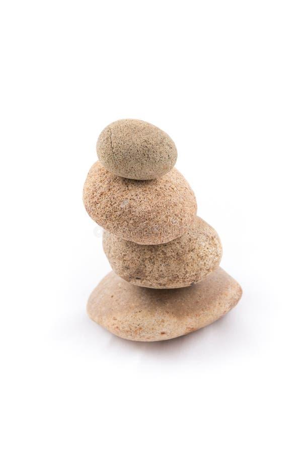 被隔绝平衡石头温泉的禅宗 免版税库存照片