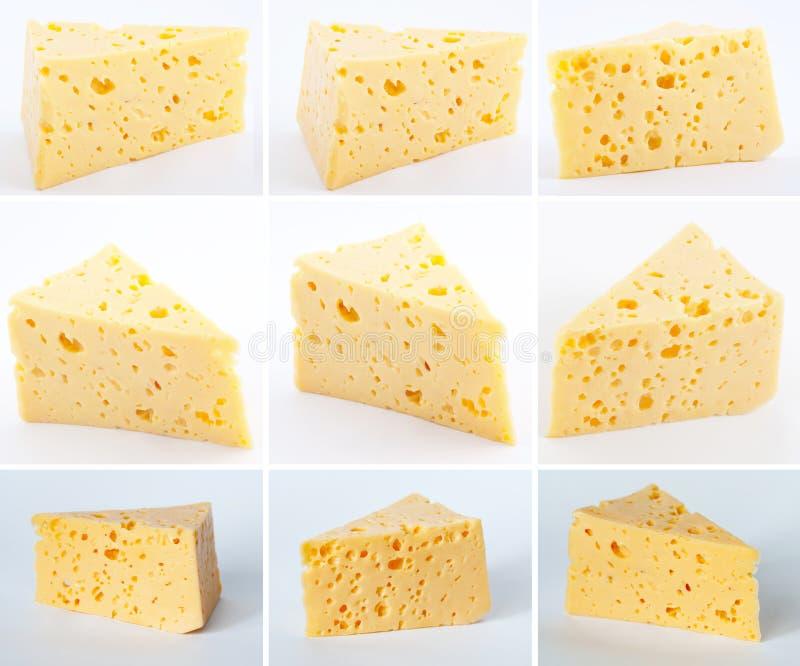 被隔绝的乳酪收藏 免版税库存照片