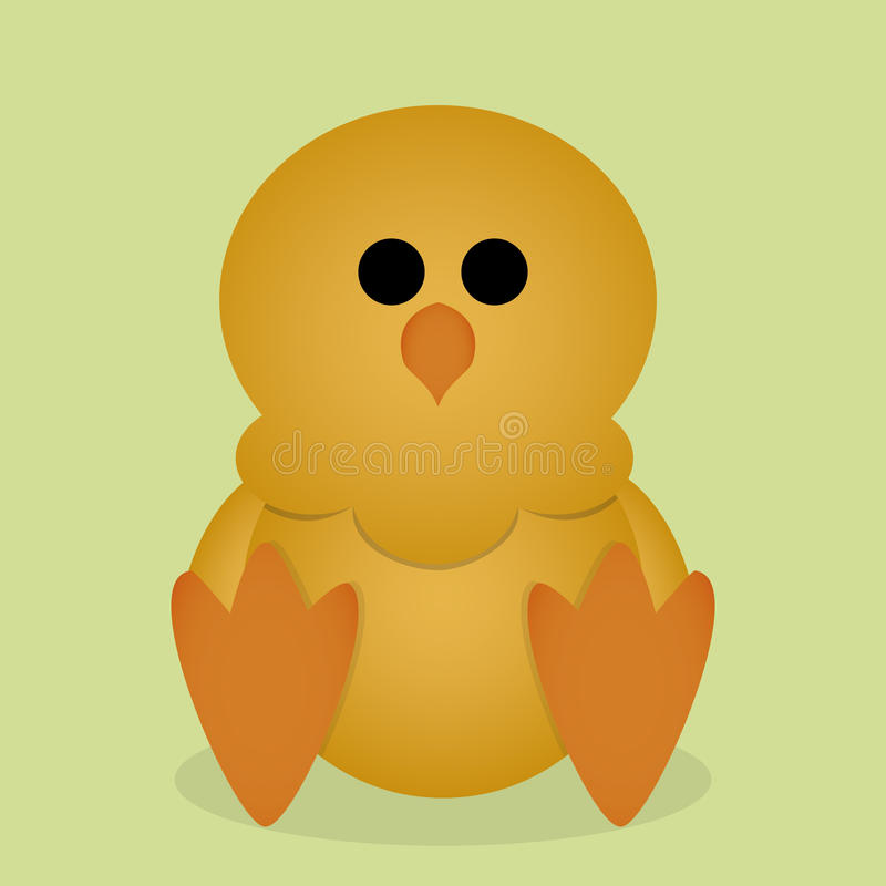 被隔绝的传染媒介动画片逗人喜爱的黄色小鸡开会 向量例证