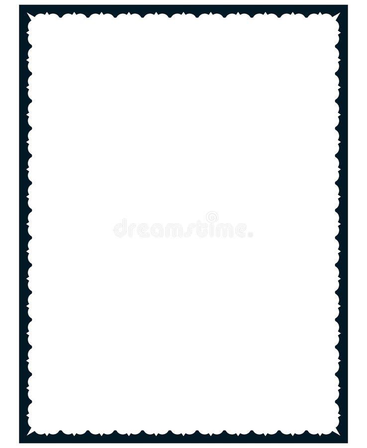 被隔绝的传染媒介简单的葡萄酒画框 皇族释放例证