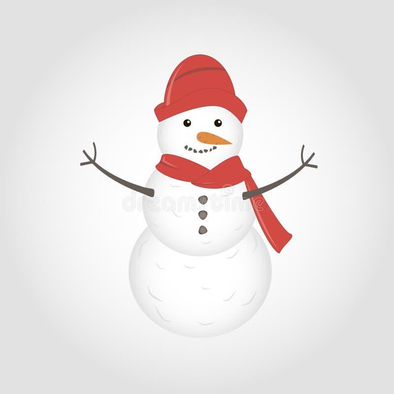 被隔绝的传染媒介逗人喜爱的雪人 库存照片