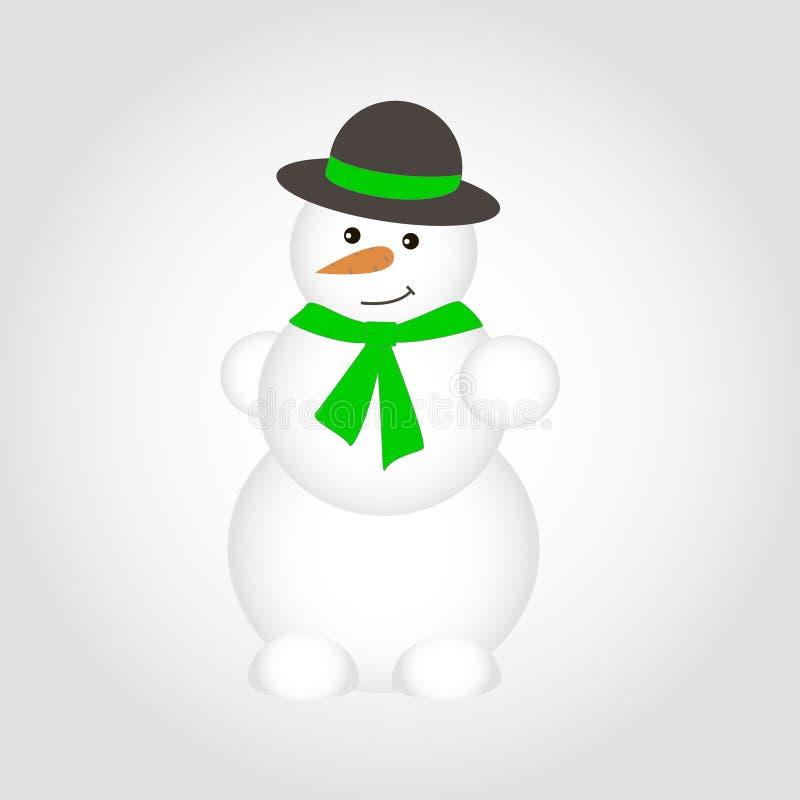 被隔绝的传染媒介逗人喜爱的雪人 免版税图库摄影