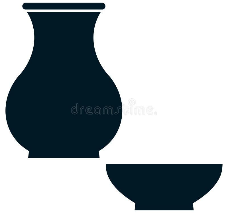 被隔绝的传染媒介陶瓷陶器简单的例证 库存例证