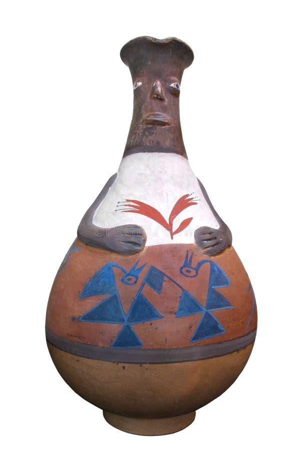 被隔绝的传统秘鲁印地安瓦器 免版税库存图片
