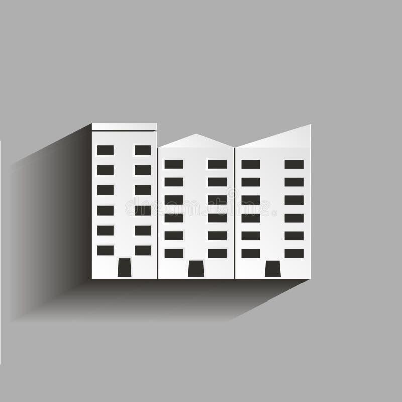 被隔绝的公寓传染媒介 Ofice大厦 与嘘例证 向量例证