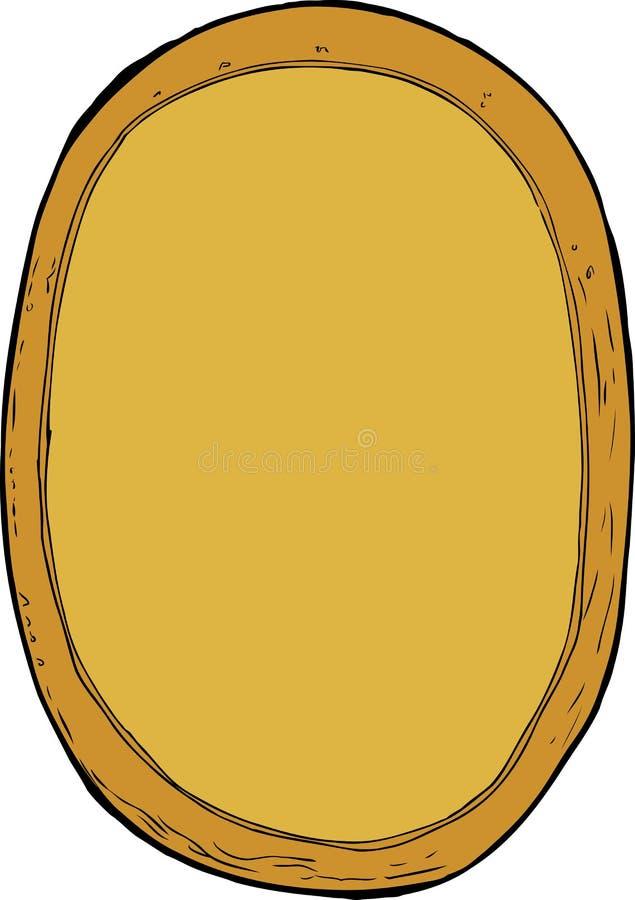 被隔绝的动画片木画框 皇族释放例证