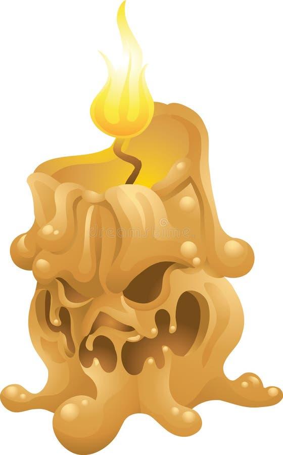 被隔绝的南瓜蜡烛 向量例证