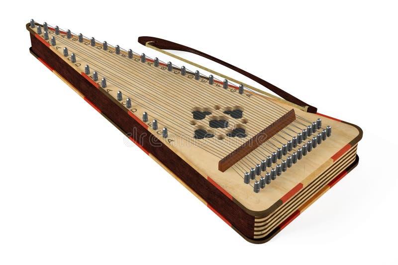 被隔绝的古代弦乐器gusli 皇族释放例证