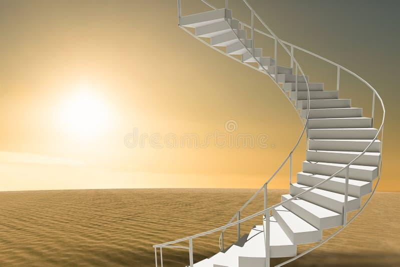 被隔绝的台阶的图象的综合图象 皇族释放例证