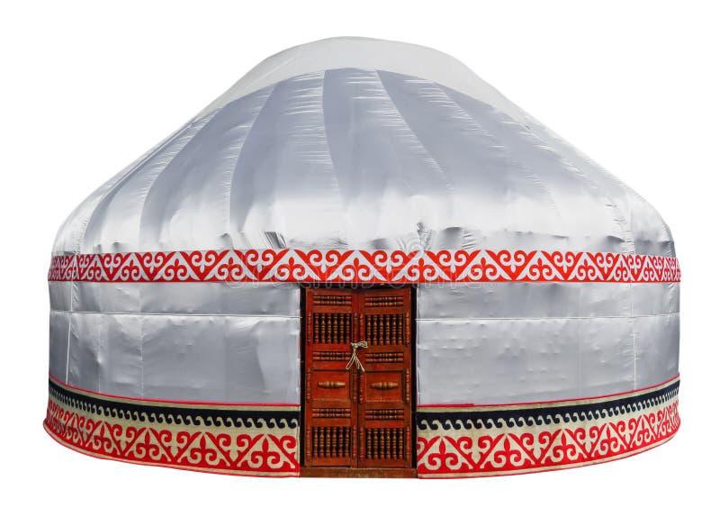 被隔绝的哈萨克人yurt 库存照片