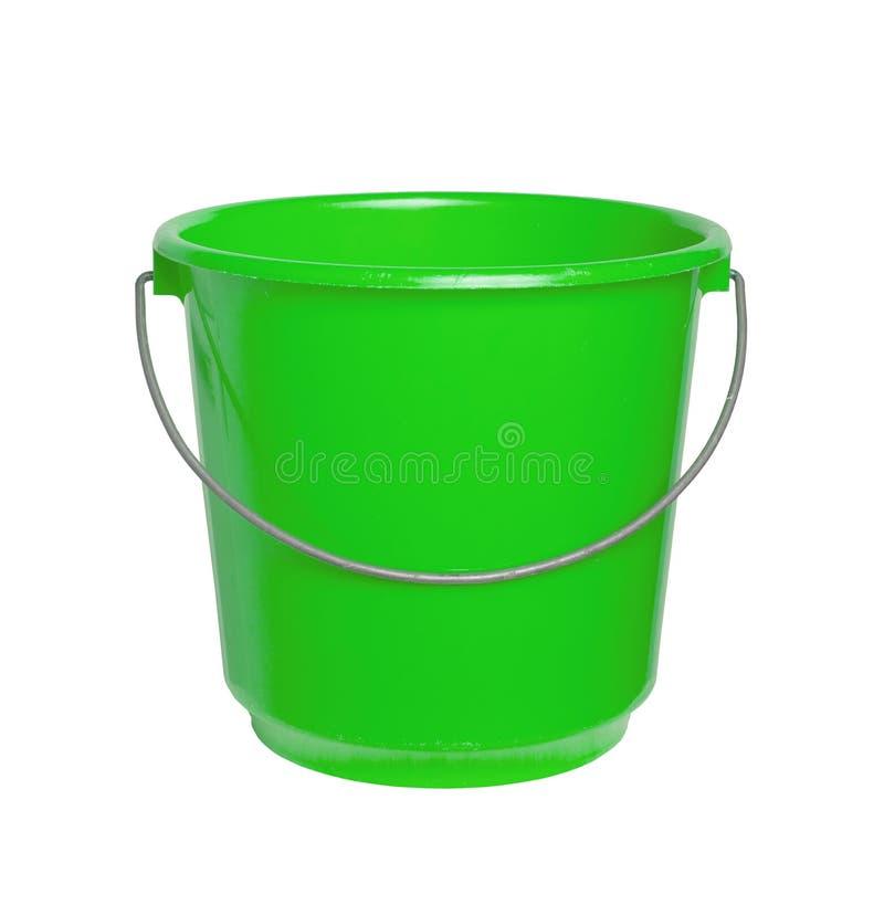 被隔绝的唯一绿色桶 免版税库存图片