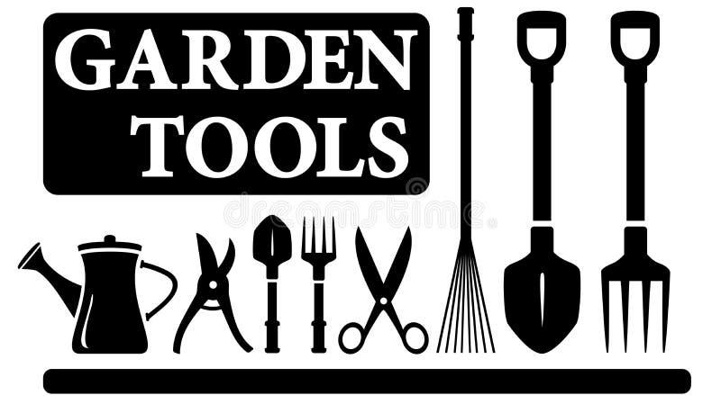 被隔绝的园艺工具 库存例证