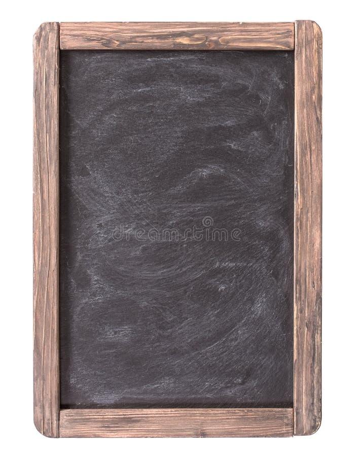被隔绝的土气板岩菜单黑板 库存图片