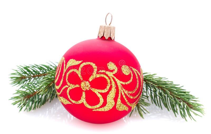 被隔绝的圣诞节装饰,文本的地方 免版税库存照片