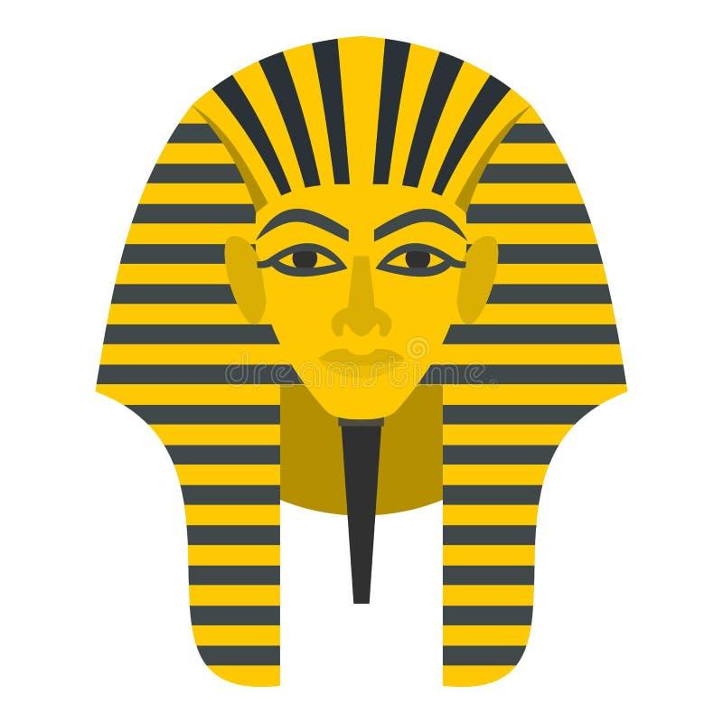被隔绝的埃及金黄法老王面具象 皇族释放例证