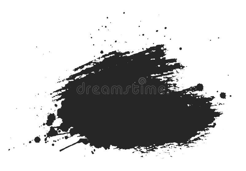 被隔绝的墨水斑点 库存例证