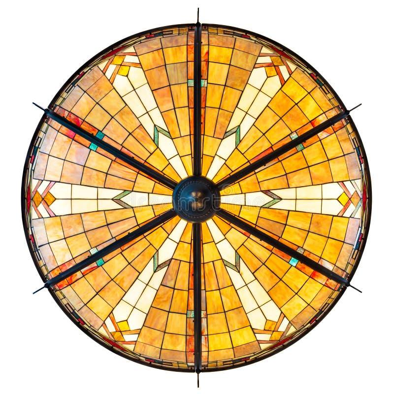 被隔绝的大有启发性艺术装饰天花板灯在白色 库存图片