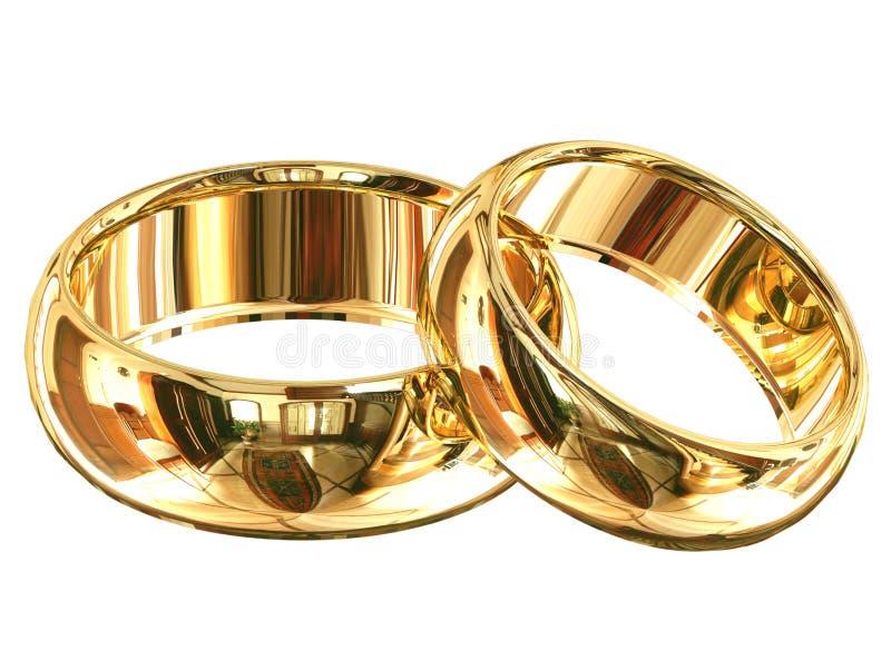 被隔绝的婚戒 免版税库存照片