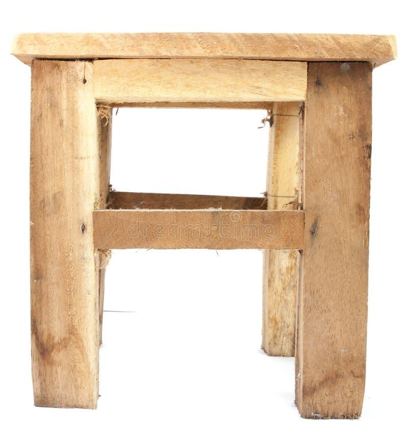 被隔绝的小木椅子 图库摄影