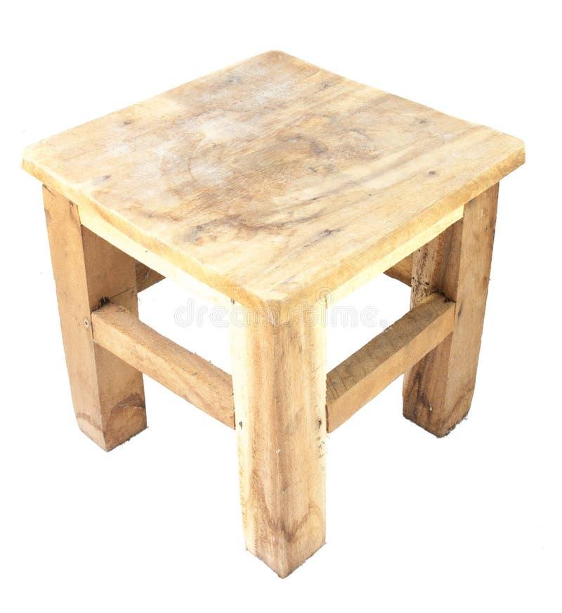 被隔绝的小木椅子 免版税库存照片