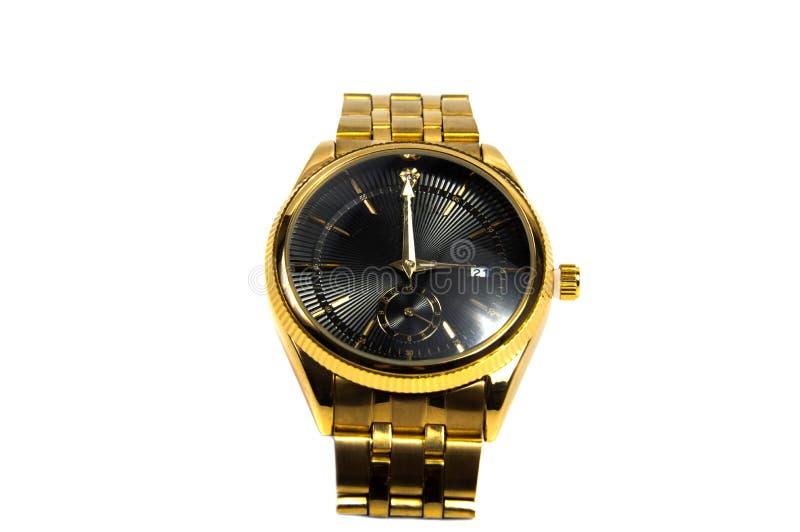被隔绝的巧妙的黑数字式手表 免版税库存照片