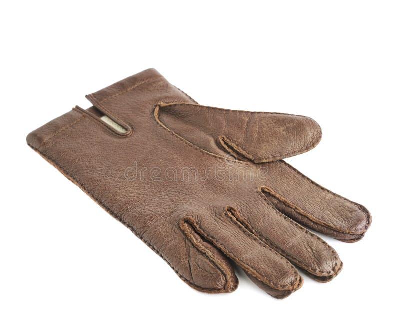 被隔绝的布朗皮手套 图库摄影