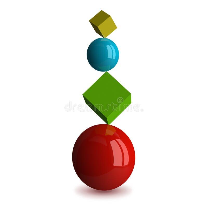 被隔绝的平衡概念 向量例证