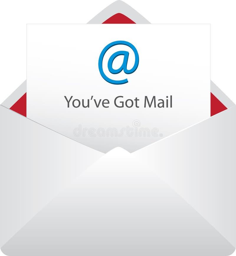 被隔绝的得到的邮件 免版税图库摄影