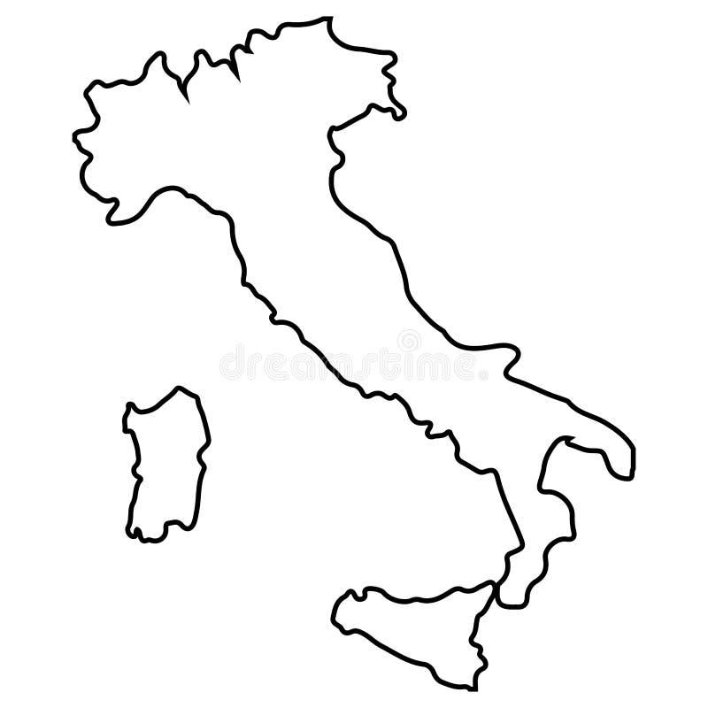 被隔绝的意大利地图 皇族释放例证