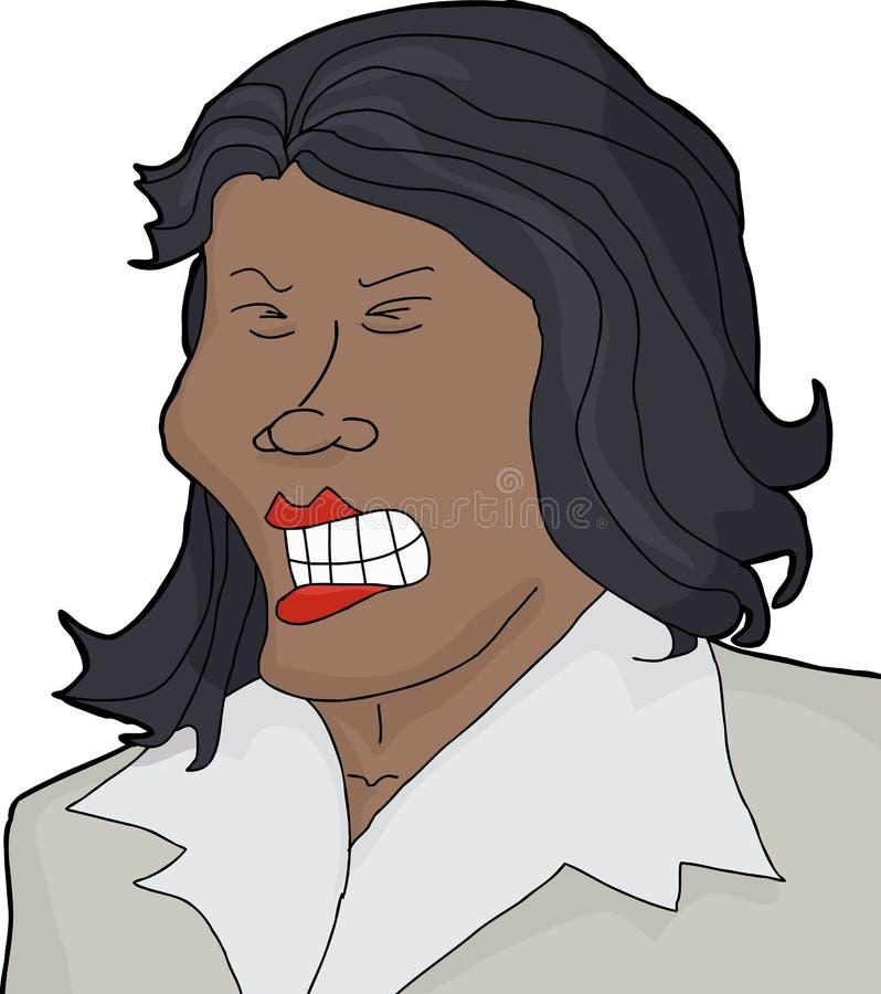 被隔绝的愤怒的畏缩的夫人 皇族释放例证